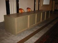 結婚式場の神殿の木橋と披露宴会場の家具をつくりました。_e0157606_1932730.jpg