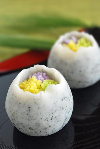 茶席上生菓子『春咲き花』_c0050395_14291421.jpg