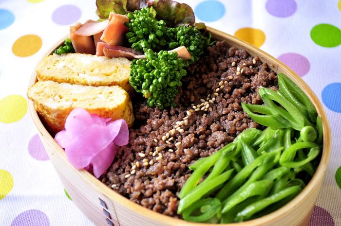 菜の花&そぼろ弁当_b0171098_7533580.jpg