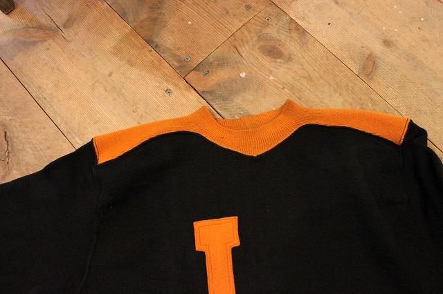 30\'s ブラック×オレンジ ウールスウェット!!_d0121303_194476.jpg