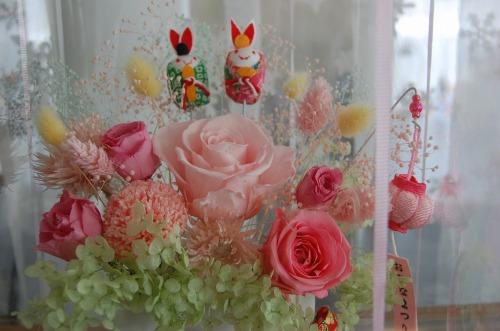 雛祭りアレンジとカクテルグラスにアレンジ♪_e0159050_22281148.jpg