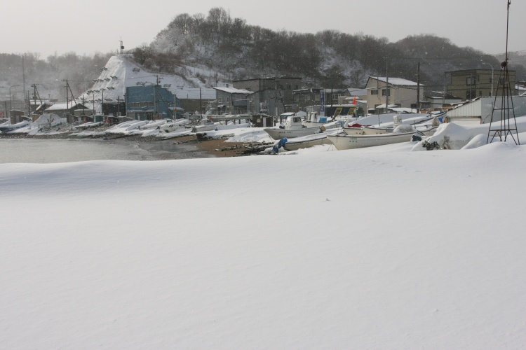 祝津  氷結漁港瞥見_b0061717_023219.jpg