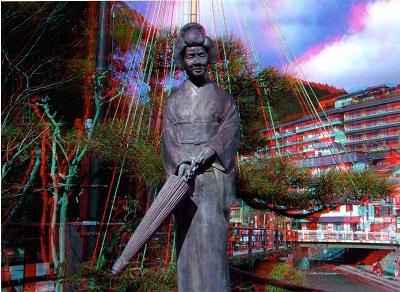 /// 夢千代像の3D立体写真をいただきました ///_f0112434_23502365.jpg