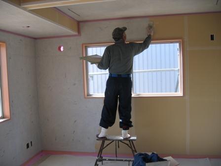 床張り 壁塗り 外回り_a0157159_2210024.jpg