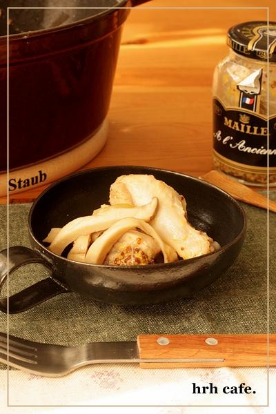 幸せの香り、鶏肉の白ワイン煮。_b0165178_10361254.jpg