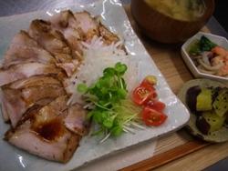 2/25晩ごはん:自家製煮豚ジャンローのうすぎり_a0116684_1162630.jpg