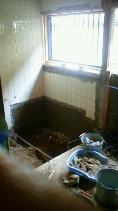 お風呂、脱衣所のリフォームスタート!_a0167735_18144625.jpg