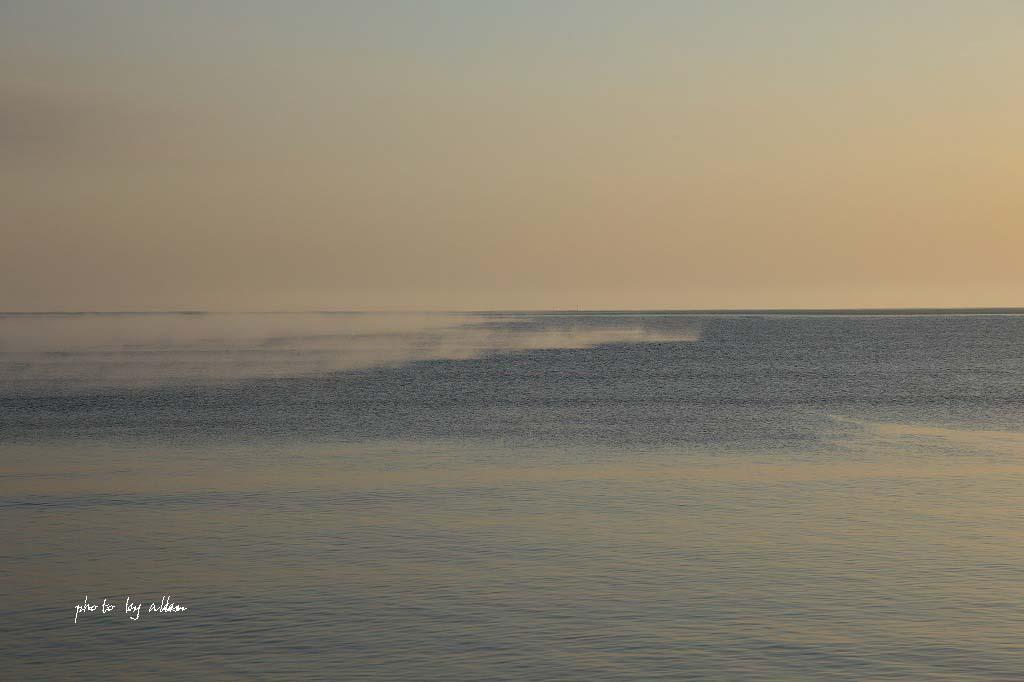 尾岱沼の朝陽と海のケアラシより~_a0039860_1834710.jpg