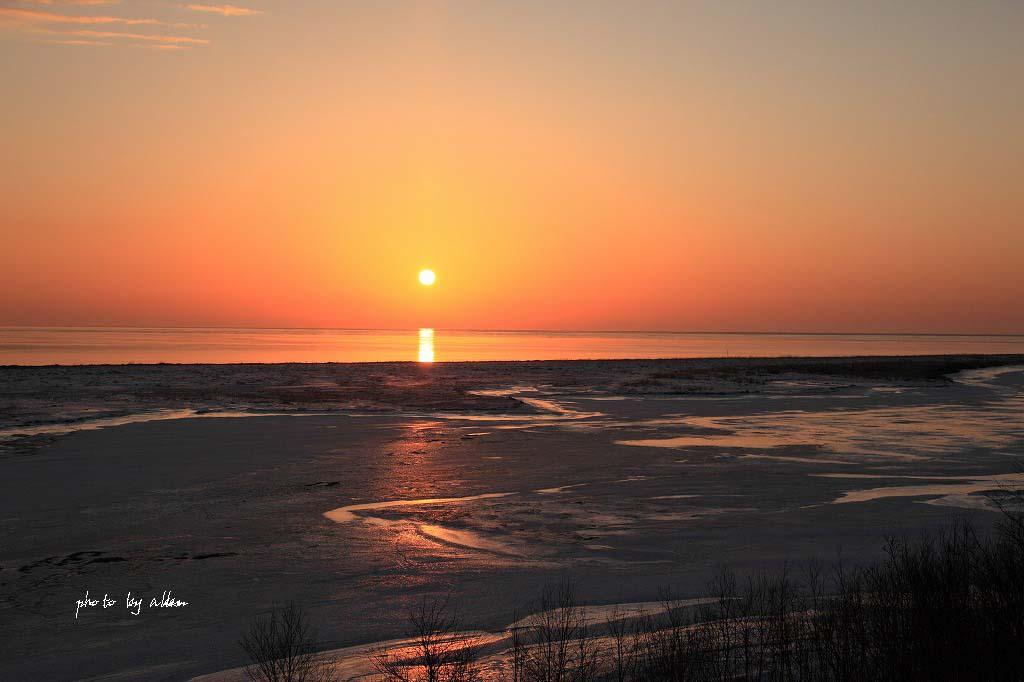 尾岱沼の朝陽と海のケアラシより~_a0039860_183773.jpg
