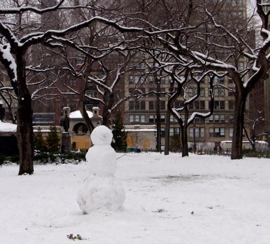 雪景色のユニオン・スクエア_b0007805_23161786.jpg