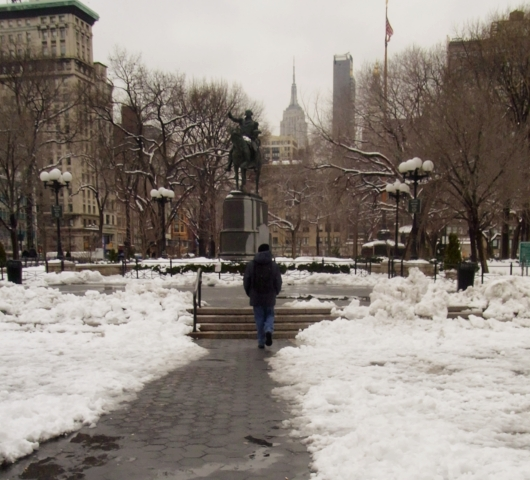 雪景色のユニオン・スクエア_b0007805_23174985.jpg