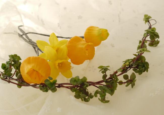 ブーケ カラー「ネロリ」と ラナンキュラスのオレンジ と カチューシャ と花の名前について_a0042928_21493125.jpg