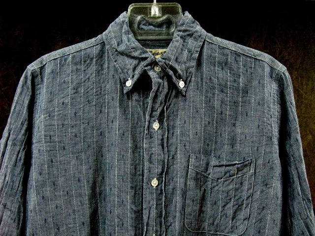 WORK ON!B.D.POLO ・・・INDIGO CHAMBRAY OF THE DOBBY TEXTURE_c0144020_15231483.jpg