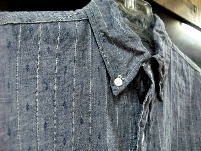 WORK ON!B.D.POLO ・・・INDIGO CHAMBRAY OF THE DOBBY TEXTURE_c0144020_15232589.jpg