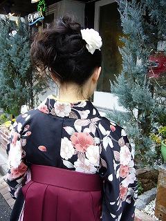 袴のヘアーメイク着付け_a0123703_10143245.jpg