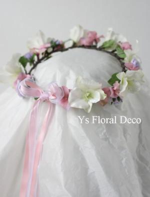 デンファレの花冠、桜の花冠_b0113510_15331489.jpg