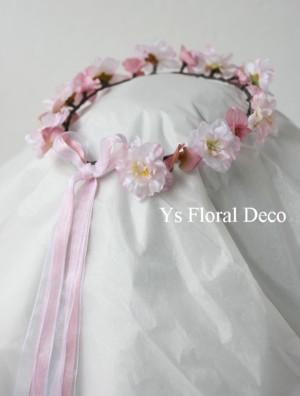 デンファレの花冠、桜の花冠_b0113510_15335689.jpg