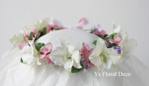 デンファレの花冠、桜の花冠_b0113510_1533679.jpg