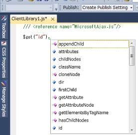 Visual Studio 2010 の JavaScript インテリセンスで、HTML DOM 要素を返す関数を機能させるには_d0079457_22443021.jpg