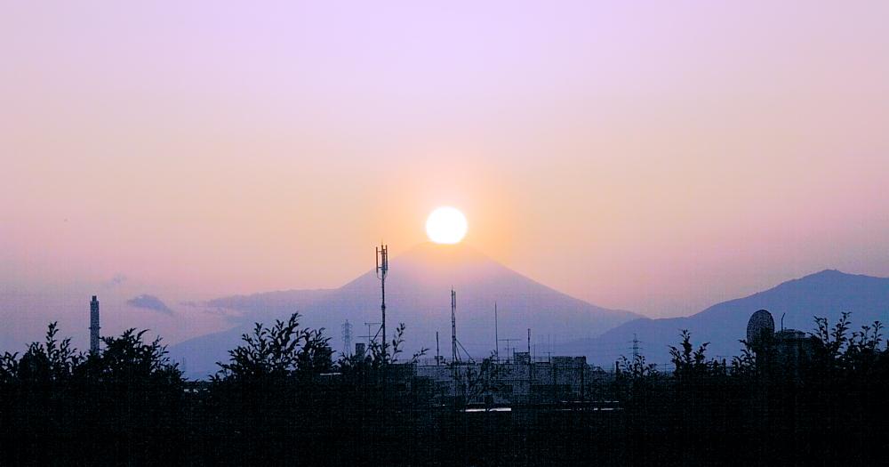 ダイヤモンド富士・野毛山公園_a0150260_981358.jpg