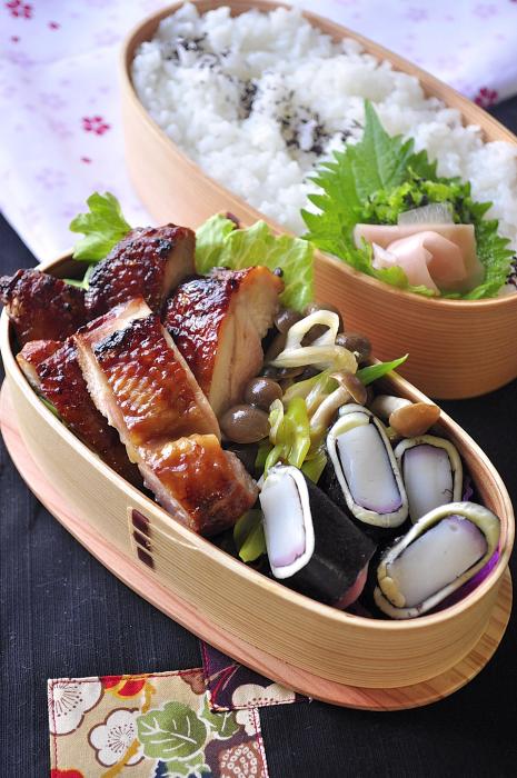 鶏の醤油漬け照り焼き弁当_b0171098_757140.jpg