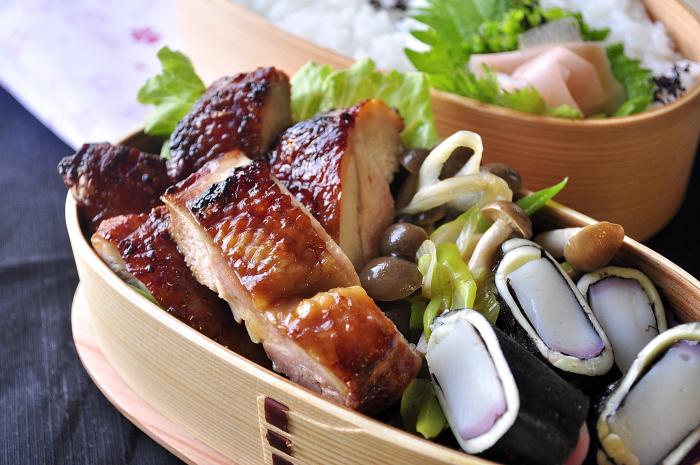 鶏の醤油漬け照り焼き弁当_b0171098_83518.jpg
