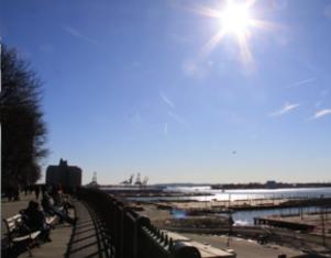 ブルックリン・ハイツ・プロムナードでリラックス Brooklyn Heights Promenade_b0007805_1274969.jpg