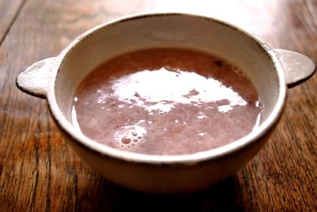 桜色甘酒とエゾアムプリン♪_c0156749_1439095.jpg