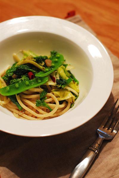 春野菜の極太パスタ_f0174982_15541942.jpg
