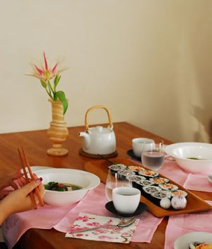 3月 茶々角/お花寿司 (番外編 飾り寿司パーティー)_f0174982_8474155.jpg