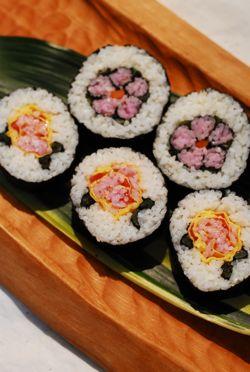 3月 茶々角/お花寿司 (番外編 飾り寿司パーティー)_f0174982_8523399.jpg