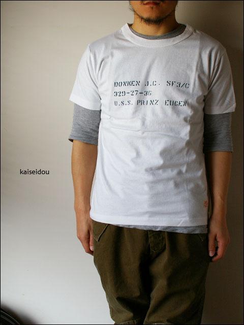 快晴堂 [かいせいどう] ステンシル柄袋入りTシャツ _f0051306_2124632.jpg