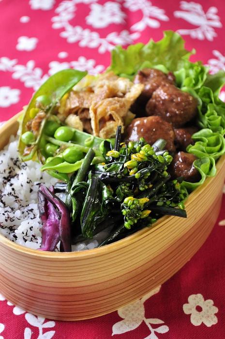 ミートボールと春野菜のお弁当_b0171098_6531871.jpg