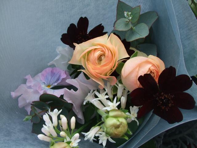 オークリーフ(卒業のお祝いの花束)_f0049672_18552480.jpg