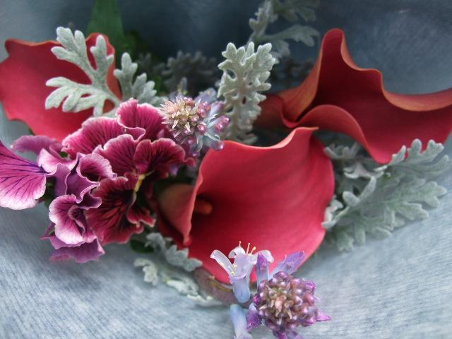オークリーフ(卒業のお祝いの花束)_f0049672_18553212.jpg