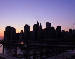 夕焼けの時間帯にブルックリン・ブリッジを渡ってみました_b0007805_12192965.jpg