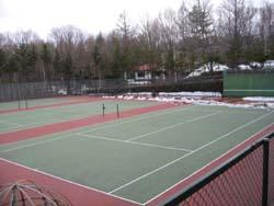 テニスコートの雪解け_f0146620_15491433.jpg