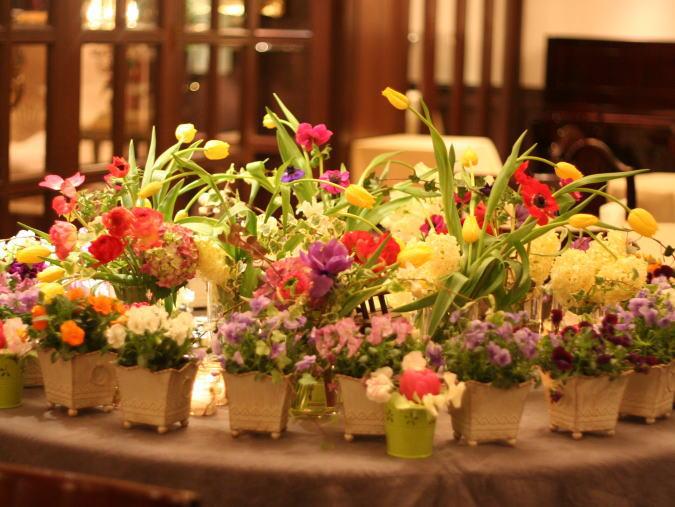 シェ松尾青山サロン様の装花 ポルトガル風_a0042928_18312468.jpg