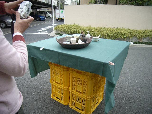 春の陶芸展DM撮影&冷却還元(CRF)の窯が出ました!_e0046128_2343432.jpg