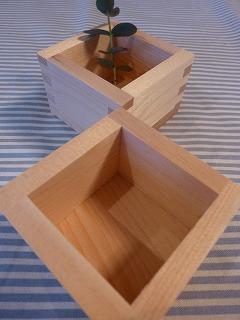 japanies  measure 小さな枡のクローバーの刺しゅう_a0165160_6314974.jpg