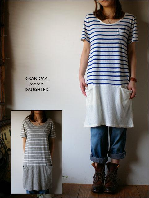 GRANDMA MAMA DAUGHTER[グランマ・ママ・ドーター] ボーダー切替しカットソーワンピース_f0051306_22395010.jpg