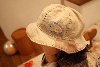 保育園帽子_f0208315_1144122.jpg