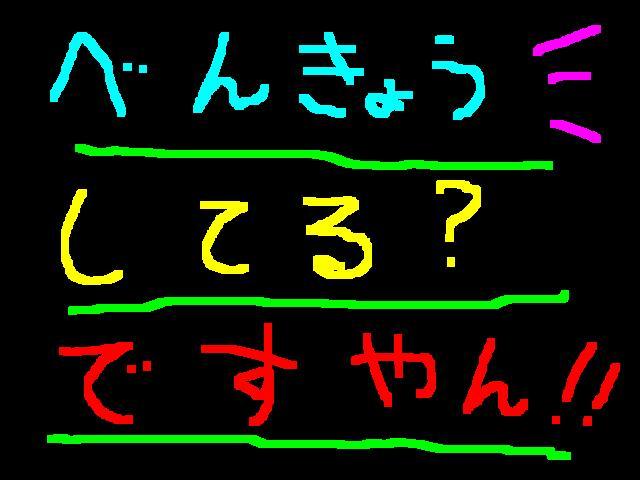 熱烈にお勉強中なの?ですやん!_f0056935_1752049.jpg