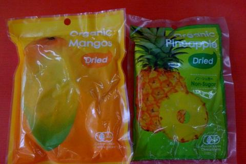 オーガニックの「マンゴー」と「パインアップル」のドライフルーツ入荷!_d0084478_14475428.jpg
