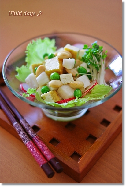 お豆と長芋の和風サラダ_f0179404_2040591.jpg