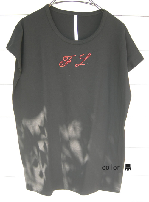 fig London 天竺イニシャル刺繍長袖Tシャツ_a0130646_17121093.jpg