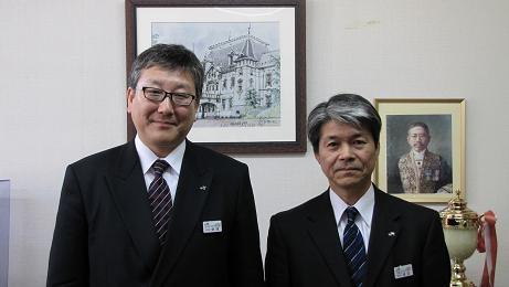 びゅうプラザ米沢駅の会津和彦・支店長が転任のご挨拶に_c0075701_222186.jpg