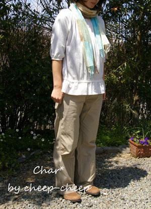 NEW! Char*  スムース・ギャザーブラウスT_a0162603_14175255.jpg