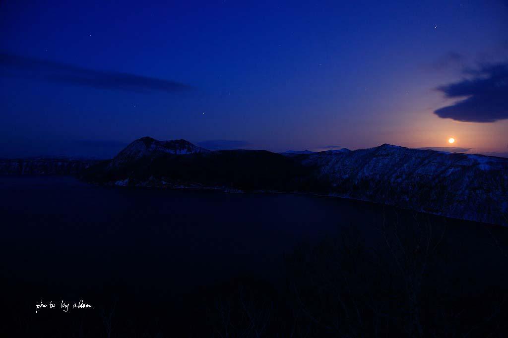満月と星さんと摩周湖より~_a0039860_2148550.jpg