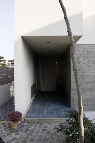 「鶴ヶ島の家」 アプローチ 玄関 坪庭 居間へ……_f0230666_1529274.jpg